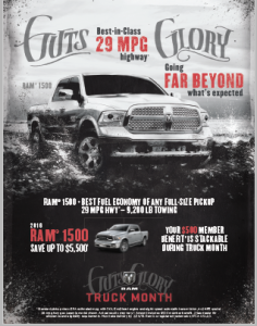 Ad for the Ram Truck Month special cover