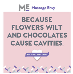 message envy negative statement about flowers - Valentines Day Massage