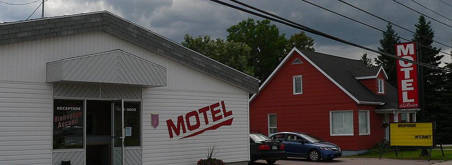 Exterieur   motel de la riviere st felicien hotel devant 2 hebergement  c  ghislaine lalande banner