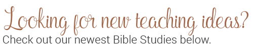Check out our newest bible studies below