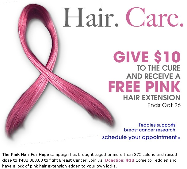 GET YOUR PINK HAIR EXTENSION