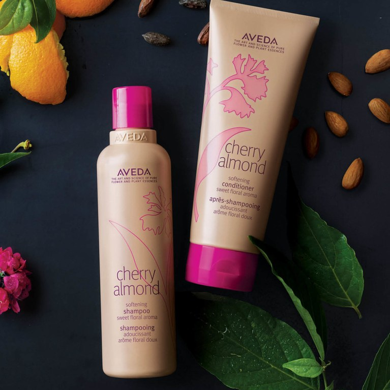 An old favorite revived: Cherry Almond Shampoo and Conditioner