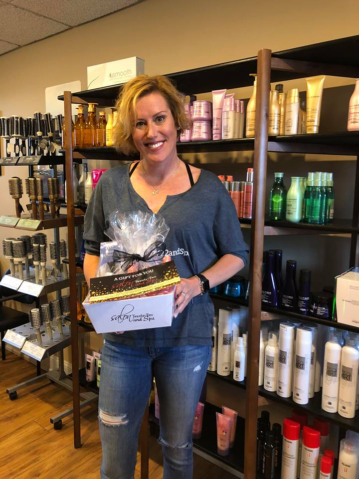 Congratulations Nancy for winning our #salon22selfie contest!