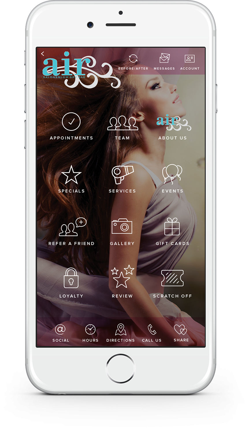 The Air Salon And Blow Dry Bar Mobile App