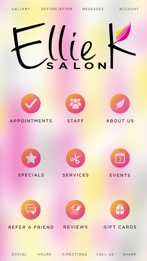Enjoy Our Ellie K Salon Mobile App Experience