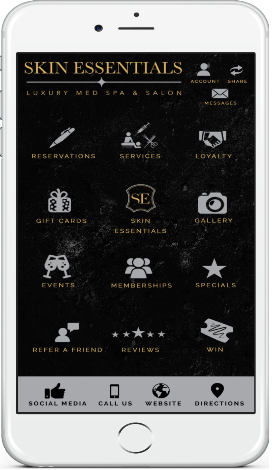Experience the Skin Essentials Luxury Med Spa & Salon Mobile App