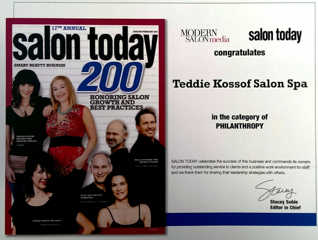 KOSSOF HONORED WITH SALON TODAY