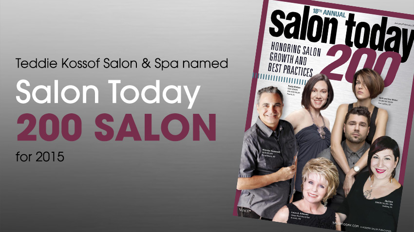 SALON TODAY MAGAZINE HONORS KOSSOF SALON