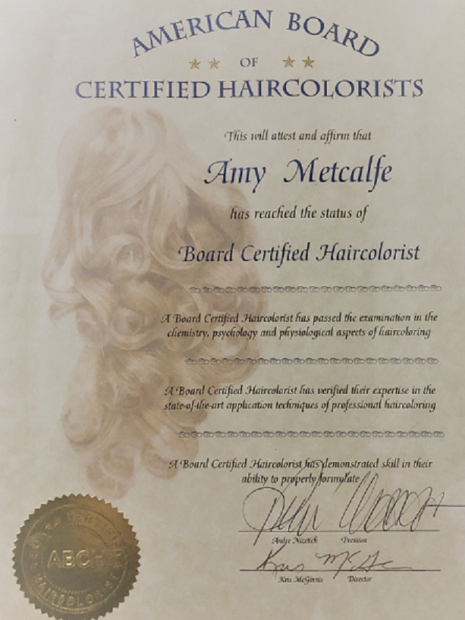 American Board Certified Hair Colorists... WHY??