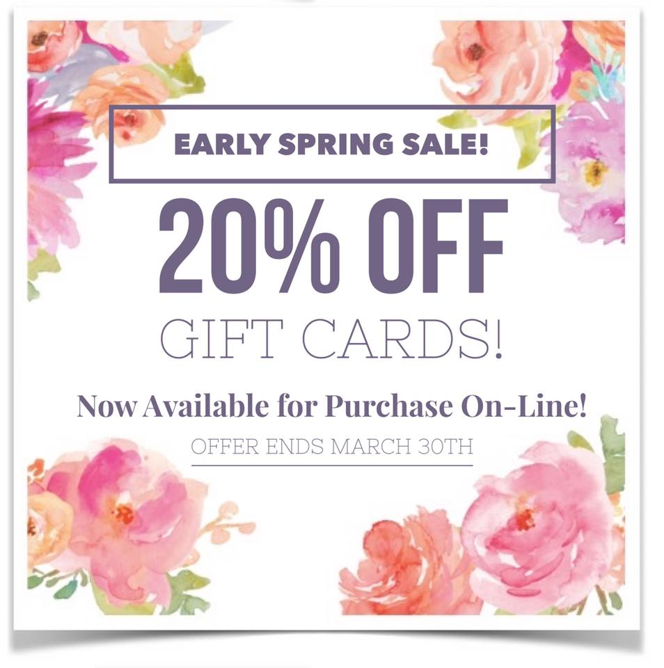 Spring Gift Card Sale