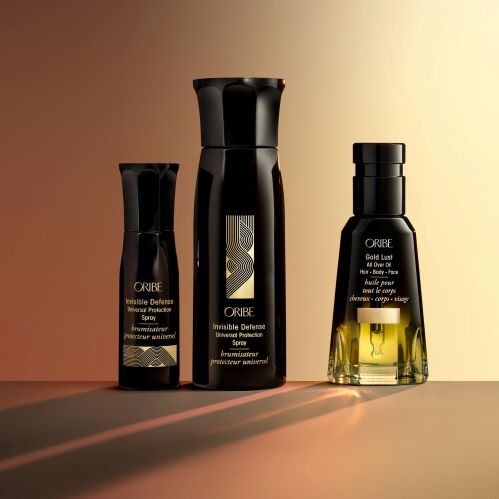 New! Oribe Gold Lust All Over Oil & Invisible Defense Universal Protection Spray