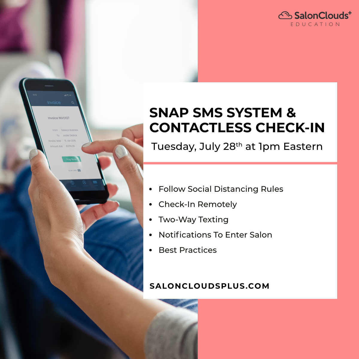 Contactless Check-in & Snap SMS Texting System Training Webinar Recording