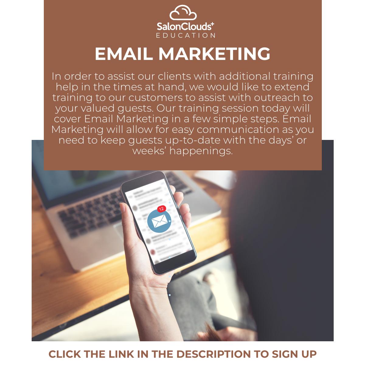 Friday, October 30th, 2020--Email Marketing Training Webinar