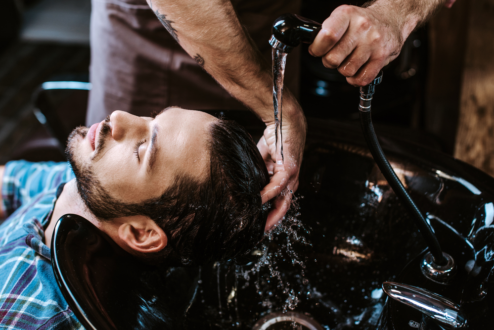 Healthy Men's Hair with Regular Conditioning and PR Barbers