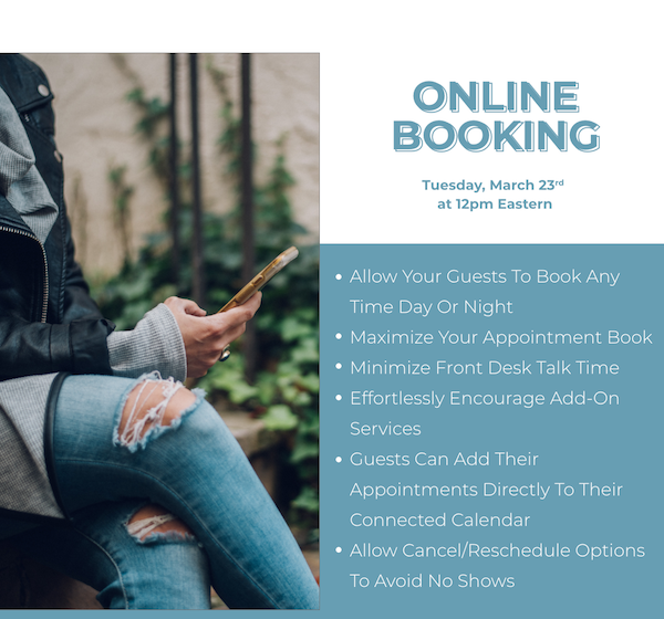 Online Booking Options Webinar Recording