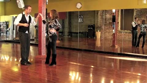 Salsa Pattern: Walk Around Whip, Arm Toss, and Fake Copa