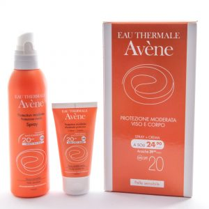 AVENE (Pierre Fabre It. SpA) Avene Solare Protezione Moderata Spray+crema Spf20