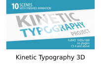 Kinetic Typography 3D
