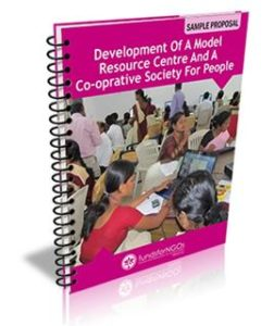 Sample Proposal on Development of a Model Resource Center and a Co-Operative Society for people