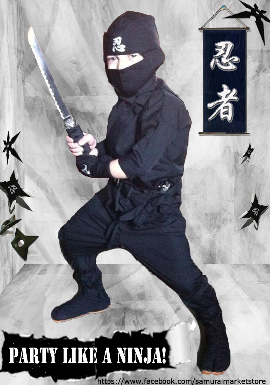 Child Sized Ninja Boots Kids Split-Toe Ninja Costume Shoes