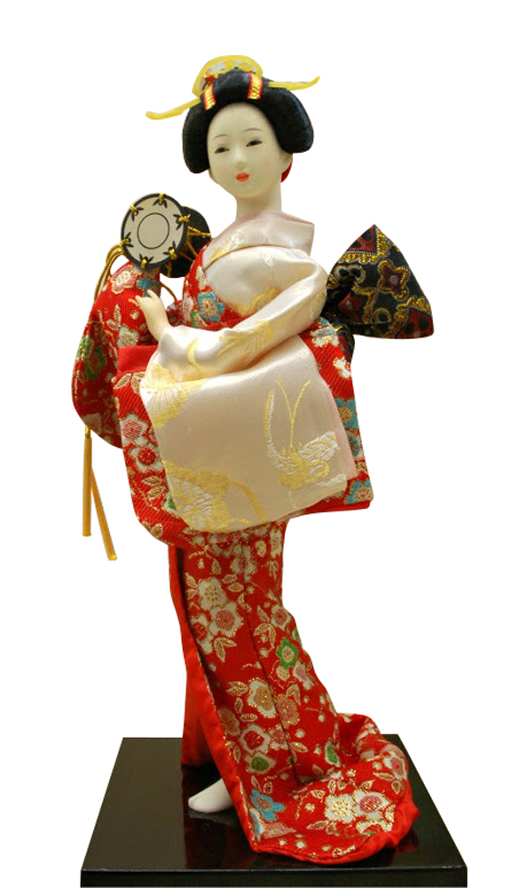 Authentic Vintage Japanese Geisha Doll 12 Inches Figure