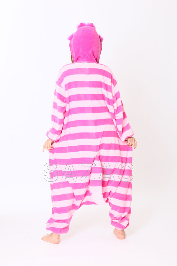 disney fleece pyjama kigurumi kost m grinsekatze alice fasching kti 001 ebay. Black Bedroom Furniture Sets. Home Design Ideas