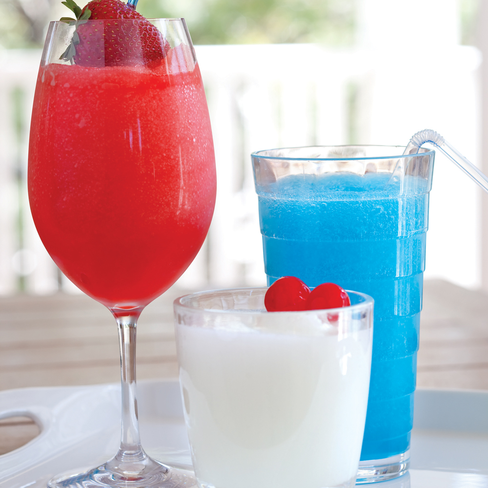 Red, White And Blue Cocktail Trio