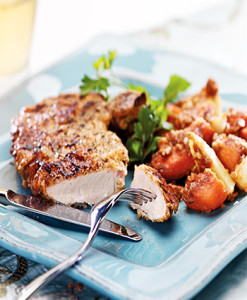 pork-chop-sweet-potatoes-pears