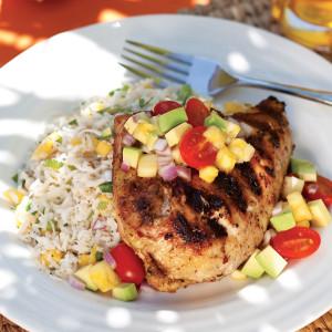 Grilled-Jerk-Chicken-&-Coconut-Rice