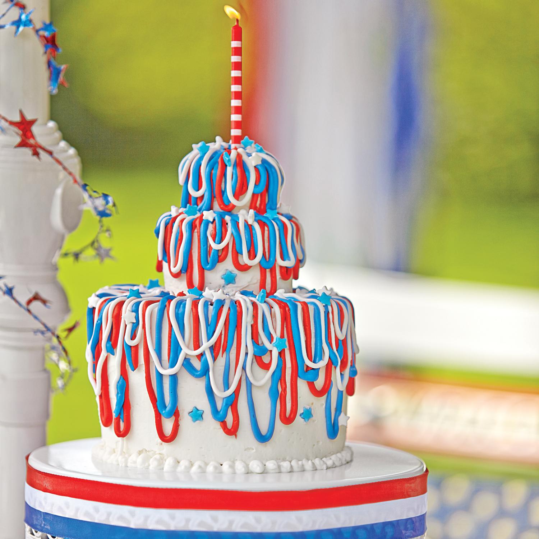 Red White And Blue Velvet Cake Sandra Lee