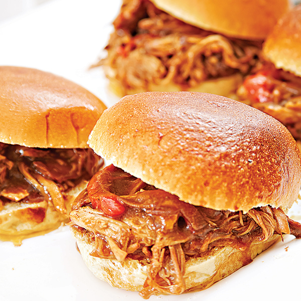Sweet And Sour Pulled Pork Sliders