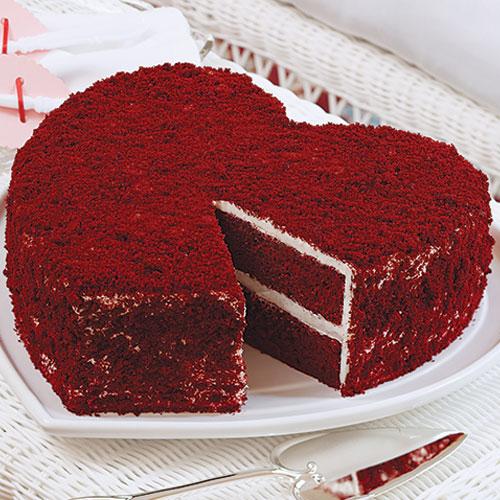 Heart Red Velvet Cake Recipe