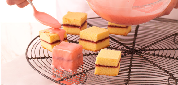 Sandra Lee's Pretty Petit Fours Recipe