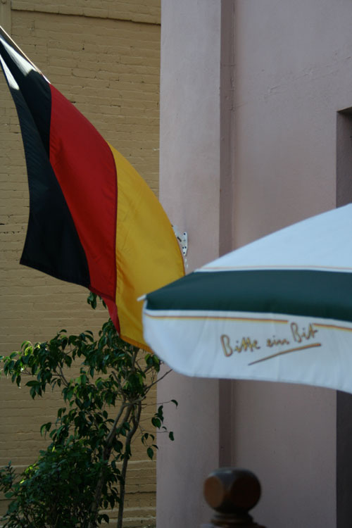 German Restaurant in Sanford, FL displaying the German flag