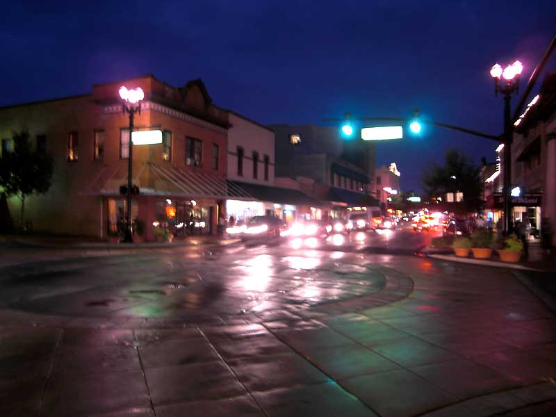Deland - Woodland Boulevard by Night