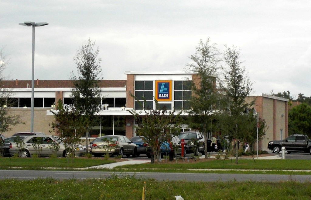 Aldi store in Sanford on Highway 46 across from the Mall