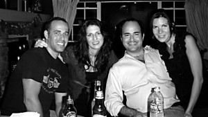 JR, Holly, Jose, Claudia at Chuck's B-Day Party