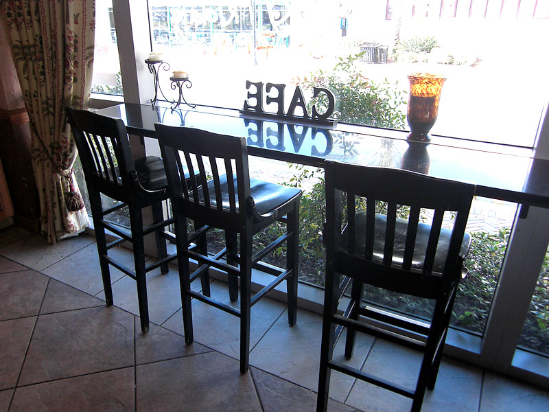 Bar Chairs at the Coffee Cafe