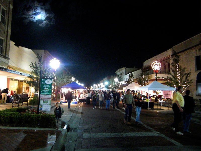 First Street during Alive After Five Holiday Party