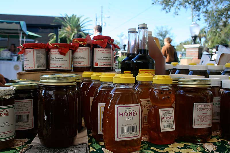 Honey at the Winter Park Farmers Market