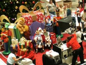 Santa in the Seminole Town Center in Sanford