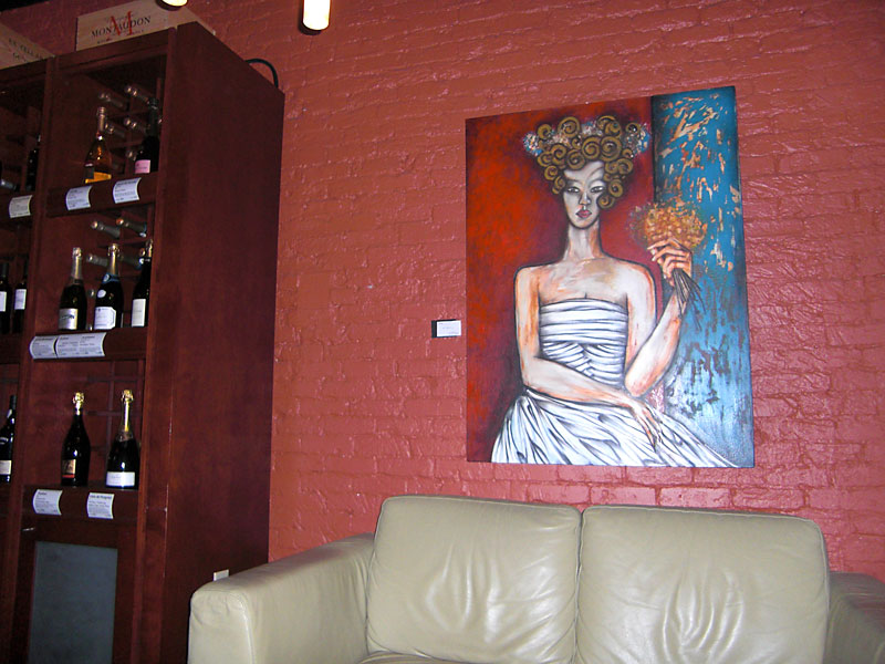 Art Work at Eola Wine Company