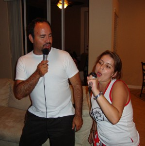 Jose and Pili singing their favorite song