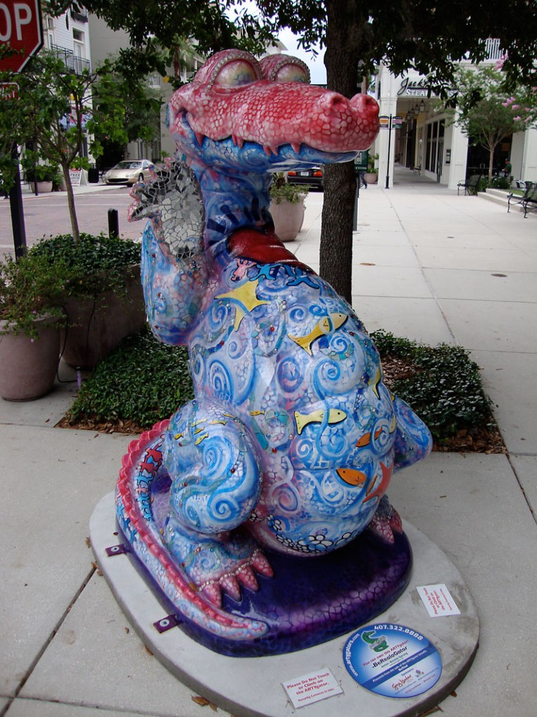 A 6ft tall ArtyGator!