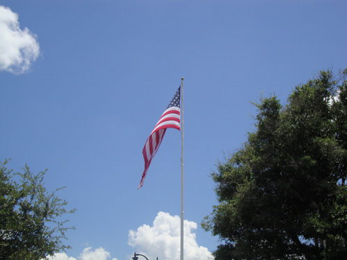 Flag on Riverwalk Sanford FL