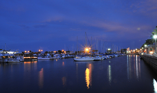 Sanford Marina by Night