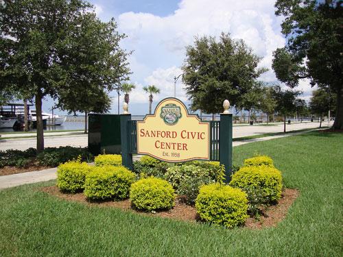 Sanford Civic Center Sign
