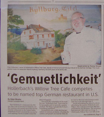 Willow Tree soon #1 German Restaurant in the US? You decide!