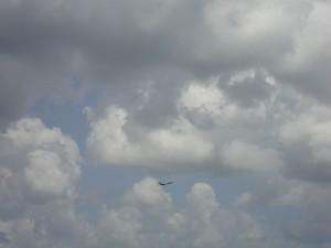 Airplane in the Skies of Sanford