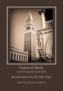 Visions of Italy Photography Exhibition at Gallery on First in Sanford